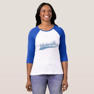 Camiseta Jérsei do longsleeve do hotwife da equipe