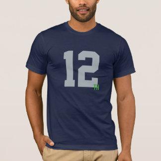 Camiseta Jérsei do marinho dos homens & do homem do verde