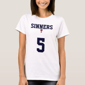 Camiseta Jérsei dos pecadores