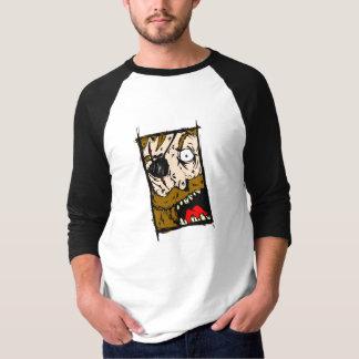 Camiseta Jérsei irritado do pirata