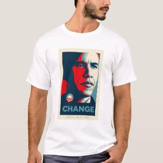 Camiseta jérsei preto e vermelho de obama