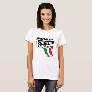 Camiseta Jerusalem é a capital do t-shirt de Palestina