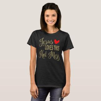 Camiseta Jesus ama este Tshirt quente do cristão da