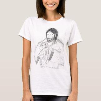 Camiseta Jesus com cordeiro
