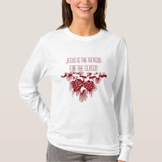 Camiseta JESUS É A RAZÃO PARA citações do Natal da ESTAÇÃO