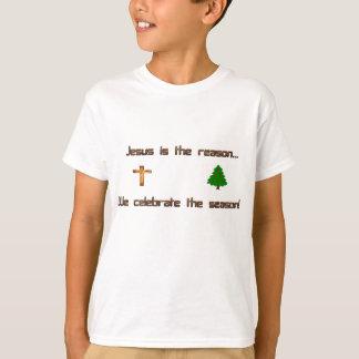 Camiseta Jesus é a razão que nós comemoramos a estação