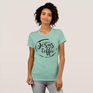 Camiseta Jesus e café