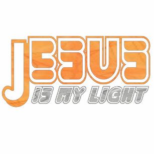 09f5409bbb747 Camiseta Jesus é minha luz 2 Gris. alaranjado