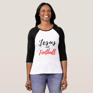 Camiseta Jesus e T das mulheres do futebol