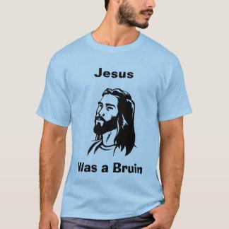 Camiseta Jesus era um azul do jérsei do Bruin