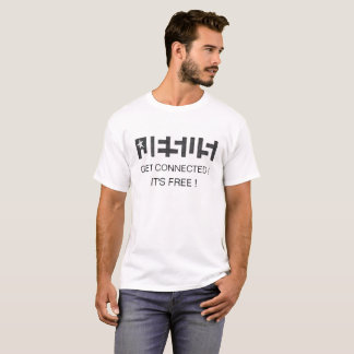 Camiseta JESUS OBTEM CONECTOU-O é TSHIRT LIVRE do logotipo