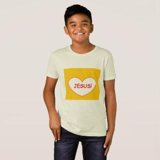 """Camiseta """"Jesus!"""" T-shirt orgânico"""