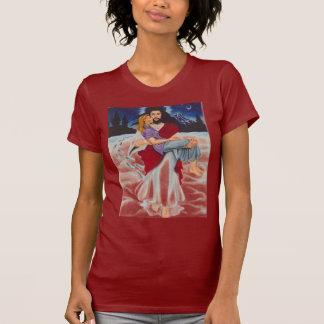Camiseta jesusfootsnowprints