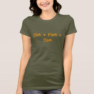 Camiseta Jim + Pam = doce