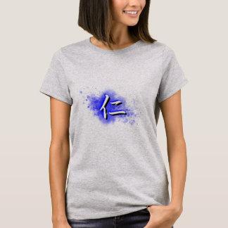 Camiseta Jin na água azul
