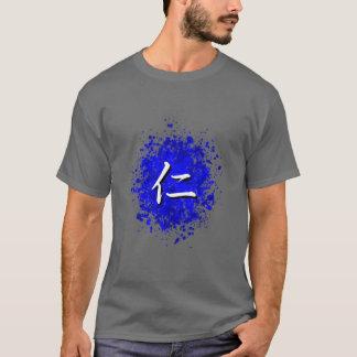 Camiseta Jin no Spatter azul da pintura