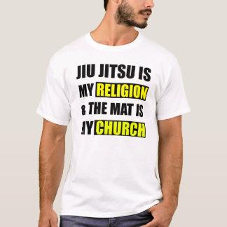 Camiseta Jiu Jitsu é minha religião & a esteira é minha