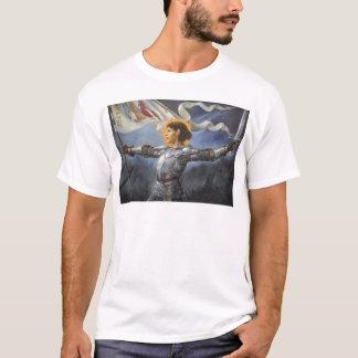 Camiseta Joana do arco com bandeira