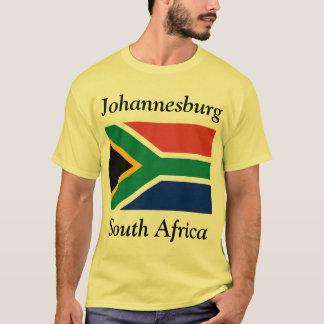 Camiseta Joanesburgo, África do Sul com sul - bandeira