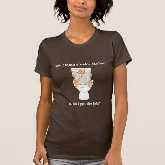 Camiseta JobCat no toalete