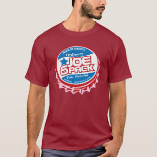 Camiseta Joe seis bonés de garrafa do bloco