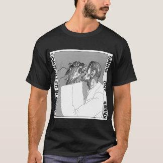 Camiseta Joelhos e ossos (camisa preta)