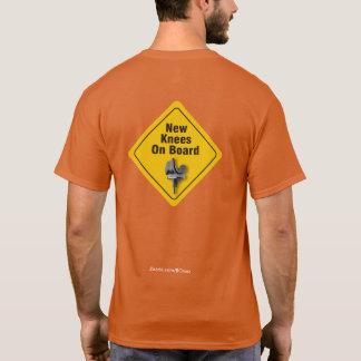 """Camiseta """"Joelhos novos a bordo"""" do t-shirt bilateral de"""