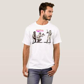Camiseta Jogador de beisebol no bastão