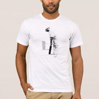 Camiseta jogador de cricket do meercat do vintage