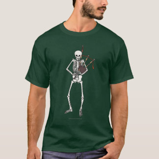 Camiseta Jogador de esqueleto do Bagpipe