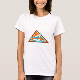 Camiseta Jogador de ondulação que desliza o ícone de pedra