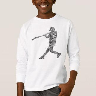 Camiseta Jogador de softball tipográfico do basebol