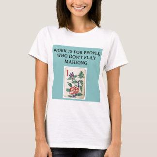 Camiseta jogador do jogo do mahjong