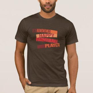Camiseta Jogador feliz do Paintball do disparador