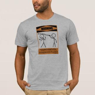 Camiseta Jogador Temperamental de advertência de Didgeridoo