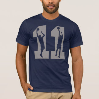 Camiseta Jogadores de basquetebol do número 11