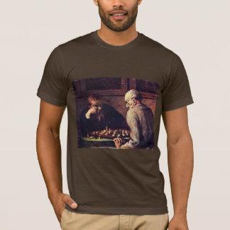 Camiseta Jogadores de xadrez por Daumier Honoré