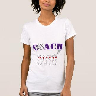 Camiseta Jogadores do coração e treinador do Netball do