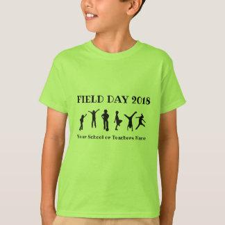 Camiseta Jogando o t-shirt do dia de saída das crianças