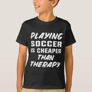 Camiseta Jogar o futebol é mais barato do que a terapia