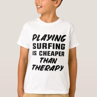 Camiseta Jogar surfar é mais barato do que a terapia