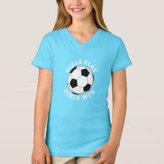 Camiseta Jogo das meninas, futebol da vitória das meninas