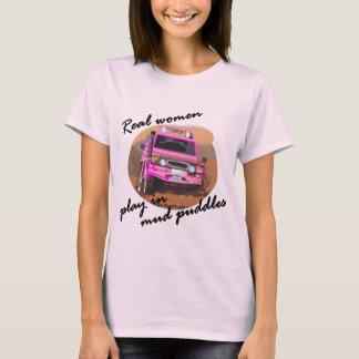 Camiseta Jogo das mulheres reais em presentes das poças de