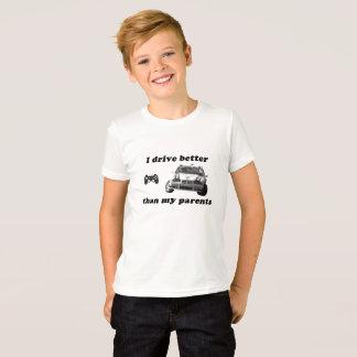 Camiseta Jogo de vídeo: Corridas de carros para miúdos