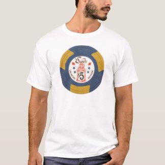 Camiseta Jogo do casino da microplaqueta de póquer de Las