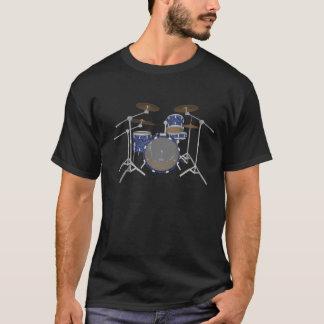 Camiseta Jogo do cilindro do jazz - revestimento azul feito