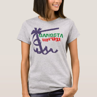 Camiseta Jogo do envoltório de Gangsta no design da