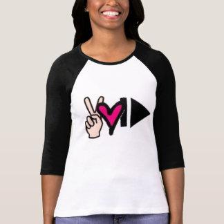 Camiseta Jogo do impulso do amor da paz