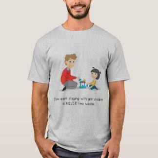 Camiseta Jogo gastado tempo com suas crianças