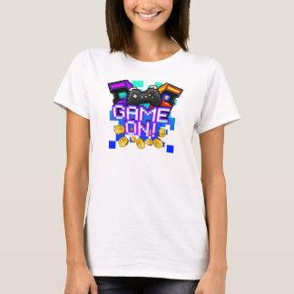Camiseta Jogo sobre! O t-shirt branco das mulheres